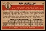 1953 Bowman #26  Roy McMillan  Back Thumbnail