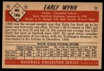 1953 Bowman #146  Early Wynn  Back Thumbnail