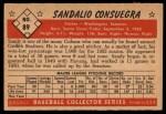 1953 Bowman #89  Sandy Consuegra  Back Thumbnail