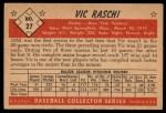 1953 Bowman #27   Vic Raschi Back Thumbnail