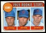 1969 Topps #602 COR Cubs Rookies  -  Alec Distaso / Don Young / Jim Qualls Front Thumbnail