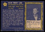 1953 Topps Who-Z-At Star #4   Allen Rocky Lane Back Thumbnail