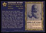 1953 Topps Who-Z-At Star #38   Keenan Wynn Back Thumbnail
