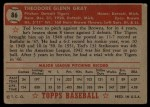 1952 Topps #86   Ted Gray Back Thumbnail