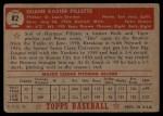 1952 Topps #82   Duane Pillette Back Thumbnail