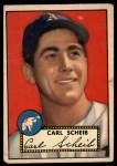 1952 Topps #116   Carl Scheib Front Thumbnail