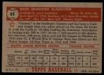 1952 Topps #65 RED  Enos Slaughter Back Thumbnail