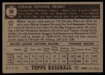1952 Topps #28 BLK  Jerry Priddy Back Thumbnail