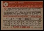 1952 Topps #61 RED Tookie Gilbert  Back Thumbnail