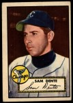 1952 Topps #304   Sam Dente Front Thumbnail