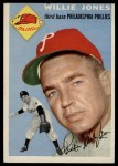 1954 Topps #41  Willie Jones  Front Thumbnail