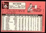 1969 Topps #89  Russ Gibson  Back Thumbnail