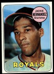 1969 Topps #258  Jackie Hernandez  Front Thumbnail