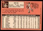 1969 Topps #651  Gus Gil  Back Thumbnail