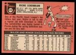 1969 Topps #479   Richie Scheinblum Back Thumbnail