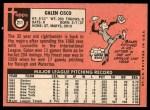 1969 Topps #211  Galen Cisco  Back Thumbnail