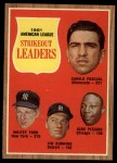 1962 Topps #59   -  Camilo Pascual / Whitey Ford / Jim Bunning / Juan Pizarro AL Strikeout Leaders Front Thumbnail