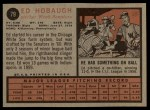 1962 Topps #79   Ed Hobaugh Back Thumbnail