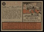 1962 Topps #73   Nellie Fox Back Thumbnail