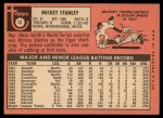 1969 Topps #13  Mickey Stanley  Back Thumbnail