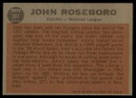 1962 Topps #397   -  John Roseboro All-Star Back Thumbnail