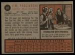 1962 Topps #81  Jim Pagliaroni  Back Thumbnail