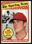 1969 Topps #435  All-Star  -  Sam McDowell Front Thumbnail