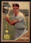 1962 Topps #154 GRN  Lee Thomas Front Thumbnail