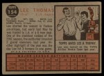 1962 Topps #154 GRN  Lee Thomas Back Thumbnail