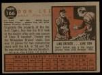 1962 Topps #166 A Don Lee  Back Thumbnail