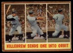 1962 Topps #316   -  Harmon Killebrew Killebrew Sends One Into Orbit Front Thumbnail