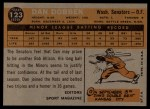 1960 Topps #123   -  Dan Dobbek Rookies Back Thumbnail