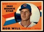 1960 Topps #147  Rookie Stars  -  Bob Will Front Thumbnail
