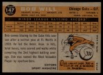 1960 Topps #147  Rookie Stars  -  Bob Will Back Thumbnail