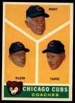 1960 Topps #457  Cubs Coaches  -  Charlie Root / Lou Klein / Elvin Tappe Front Thumbnail