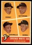 1960 Topps #458  White Sox Coaches  -  Johnny Cooney / Don Gutteridge / Tony Cuccinello / Ray Berres Front Thumbnail