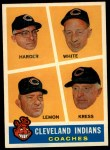 1960 Topps #460  Indians Coaches  -  Mel Harder / Jo Jo White / Bob Lemon / Ralph Kress Front Thumbnail