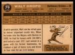 1960 Topps #79  Walt Dropo  Back Thumbnail