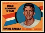 1960 Topps #127  Rookie Stars  -  Ron Hansen Front Thumbnail