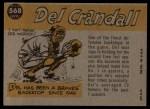 1960 Topps #568  All-Star  -  Del Crandall Back Thumbnail