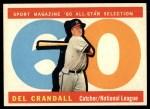 1960 Topps #568  All-Star  -  Del Crandall Front Thumbnail