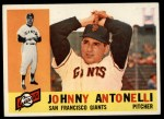 1960 Topps #80   Johnny Antonelli Front Thumbnail