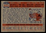 1957 Topps #341  Don Gross  Back Thumbnail