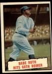 1961 Topps #401  Babe Ruth Hits 60th Homer  -  Babe Ruth Front Thumbnail