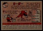 1958 Topps #100 YT  Early Wynn Back Thumbnail