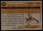 1960 Topps #128  Rookie Stars  -  Bill Harris Back Thumbnail