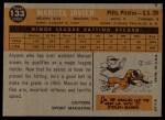 1960 Topps #133  Rookie Stars  -  Manuel Javier Back Thumbnail