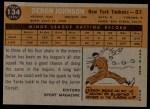 1960 Topps #134  Rookie Stars  -  Deron Johnson Back Thumbnail