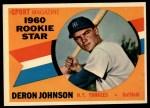 1960 Topps #134  Rookie Stars  -  Deron Johnson Front Thumbnail