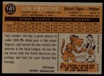1960 Topps #141  Rookie Stars  -  Jim Proctor Back Thumbnail